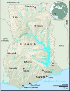 MAP: Ghana