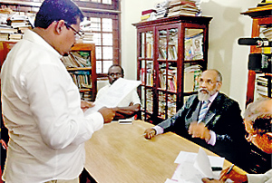 Taking oaths before CM Wigneswaran