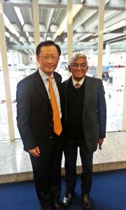 Picture shows Vijitha Yapa (right) with Youngsuk 'YS' Chi.