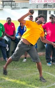 Winner of men's  Put shot event below 35 Senerath Bandara of Nothern Knights