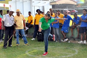 Winner of women's  Put shot event Bakti Jagoddarachchi of Suthern Braves