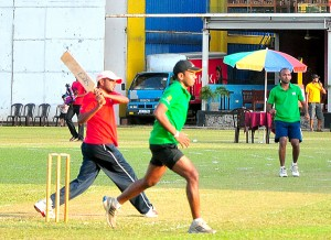 Action at cricket finals………