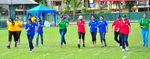 Girls running event in progress