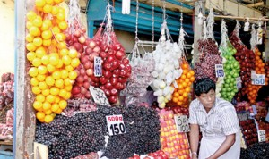 Colourful fruits galore, but how fit are they for human consumption? (file pic)
