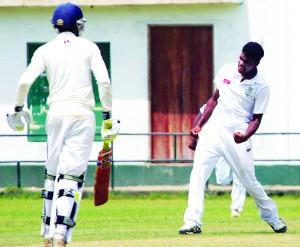 IK6S4041,Anuk Franando takes Shanuka Kodithuwakku's wicket