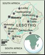 MAP: Lesotho