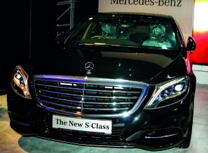 The new S-Class Mercedes Benz which will be used by visiting heads of State for CHOGM. Pic  by  Ranjit Perera