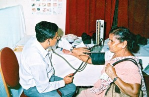 Maintaining blood pressure in the normal range reduces the incidence of dementia and Alzheimer's disease. File pic