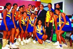 The victorious Army SC netball team, who won their first major title at top level