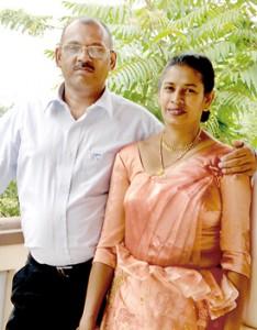 Chamara's parents Dayananda and Nalani
