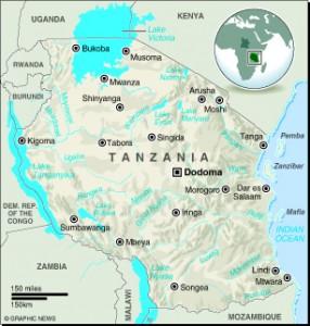 MAP: Tanzania