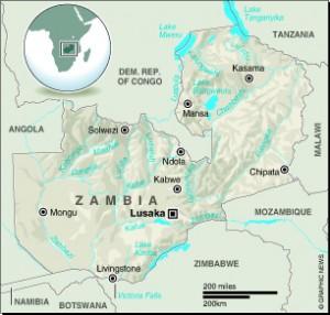 MAP: Zambia