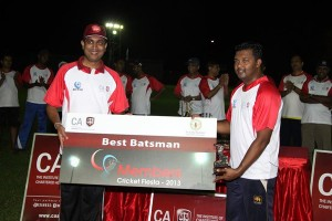 Best Batsman Lakshitha Bandara  of  KPMG Lions
