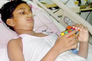 Deduni recovering in hospital