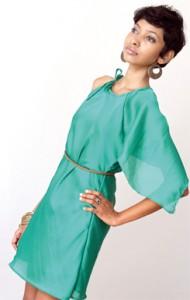 Dharini models some of her designs. Pix by Indika Handuwala