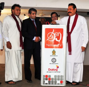 Picture shows the President launching the new channels.