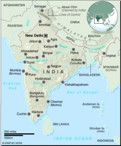 MAP: India