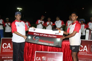 Man of the Series - Aruna Priyadarshana of  EY Seven Stars
