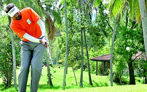 Overall Winner of the SriLankan Airlines Golf Classic for the Men's Gross Score, Subramaniyam Sashikumar