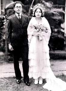 Wedding portrait: George Keyt and  his bride Ruth Jansz