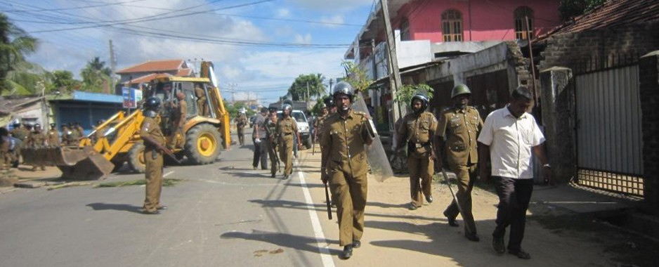 Uneasy calm in Nintavur with heavy police presence