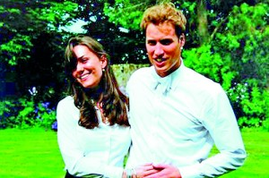 The Duchess and Prince William on the day of their graduation ceremony at St Andrew's University June 23, 2005 (REUTERS/THE MIDDLETON FAMILY, 2011)