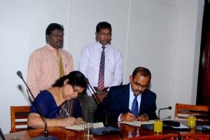 The agreement being signed