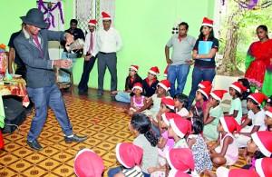 Children enjoying a magic show