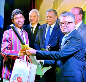 Kusal Mendis was crowned the Bata-the Sunday Times Schoolboy Cricketer of the Year 2013