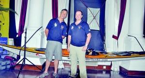 Aussie sea kayakers Ian Pexton and David Rowland. (Pic by Indika Handuwala)