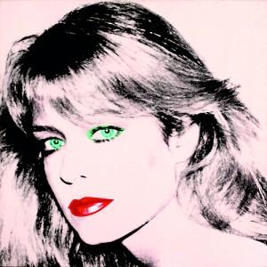 "Andy Warhol's painting of ""Farrah Fawcett,"" 1980 (AFP)"