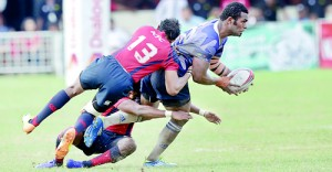 A Navy player on the rampage - Pic by Amila Gamage