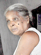 D.M. Sumanawathi: Not informed of relocation moves.               Pix by Susantha Liyanwatte