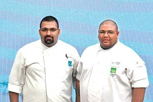 Chef Vichalya and Amal, executive Chefs at Jungle Beach and Ulagalla