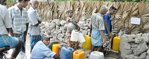 Water a major problem. Pic by Susantha Liyanawatte
