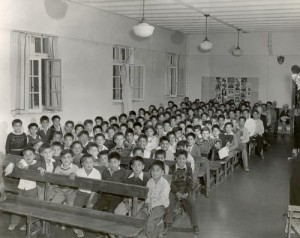 Students in a Canadian Indian residential school. Pic courtesy indigenousfoundations.arts.ubc.ca