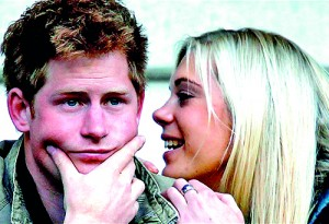 The jury were read a transcript of a tape recovered in 2006 apparently left on Prince Harry's phone pretending to be girlfriend Chelsy Davy (Reuters)