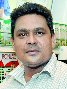 Pradeep Jayaratne: His outlet was able to supply only 2 per cent of monthly demand