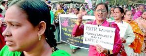 Activists launch a war against rape. AFP