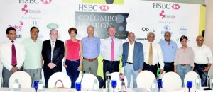 Proud to be part of HSBC CFW 2014: The sponsors and organisers at a news conference on Thursday. Pic by Ranjith Perera