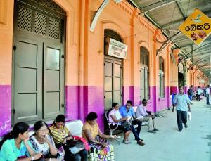Closed: The canteen at Maradana station. Pic by Indika Handuwala