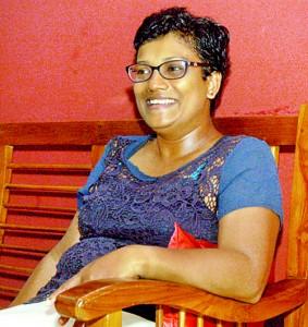 Dr. Gothamie Weerakoon on holiday in Sri Lanka.  Pic by Nilan Maligaspe