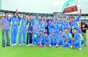 The victorious SSC cricket team