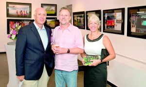 Walter Keller (centre) with German Ambassador Jurgen Morhard and his wife at his last exhibition in Colombo in December