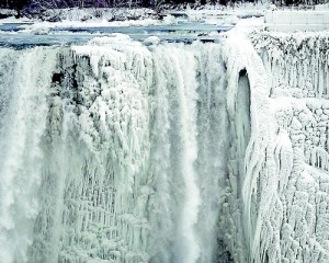 A collection of spectacular photographs have shown the moment the U.S. side of the famous falls froze before they could reach the bottom. Reuters