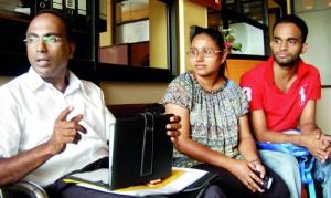 Our campaign will continue:  Daminda Hettiarachchi, Amila Hettiarachchi and Isuru Ranagala.  Pix by Nilan Maligaspe