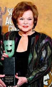 Proud: The star picked up the Screen Actors Guild Life Achievement Award just nine years ago