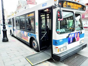 Disabled access on public transport in New York City.  Pic courtesy www.newyorkcity.ca