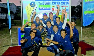 Champions, WNL Advertising Department 'B' team  with  the D.R. Wijewardena Challenge Trophy