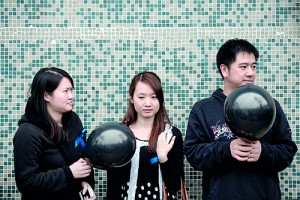 Demonstrators hold black balloons as they rally outside the offices of Chinese language newspaper Ming Pao, to protest against the replacement of its chief editor in Hong Kong.   Hong Kong's cherished status as a bastion of press freedom is being eroded by creeping self-censorship under pressure from Beijing (AFP)